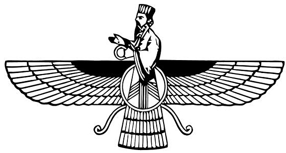 Faravahar%20Persian%20B&W%20Logo%20Iran%20Flag via Angel-Wings