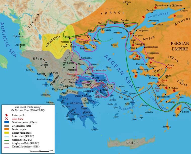 Iran politics club iran historical maps 3 greco persian wars 033 greco persian wars the greek world 500 bc 479 bc map greco persian wars the close up view gumiabroncs Gallery