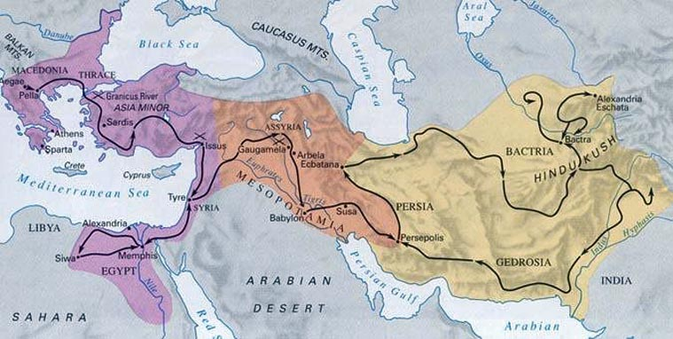 the conquests of alexander the great a king of macedonia One man, alexander, king of macedonia, a greek-speaker, is responsible for this blending of cultures  philip's plan of conquest was cut short when, in 336 bc,  the battle location was.