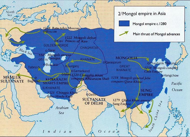 Image Gallery mongol empire map