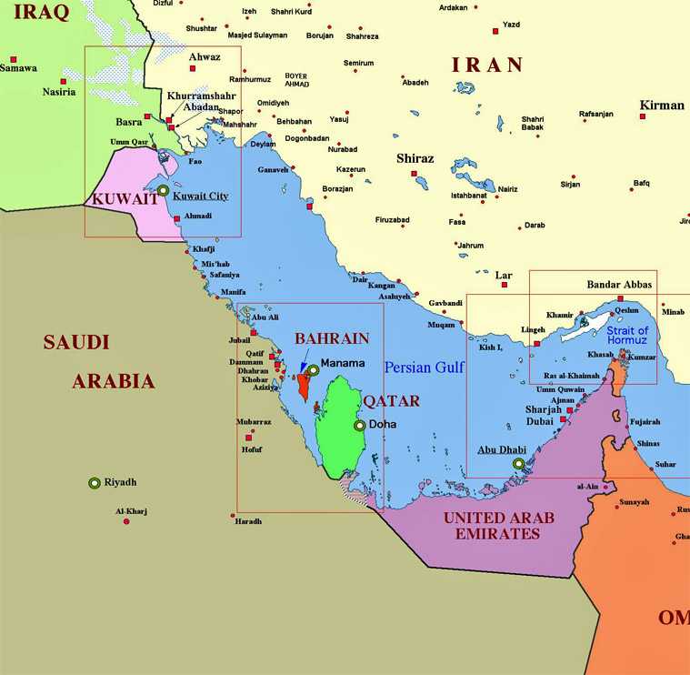 Iran politics club iran political maps 11 middle east caspian sea 201 iran south western ports of persian gulf map gumiabroncs Images