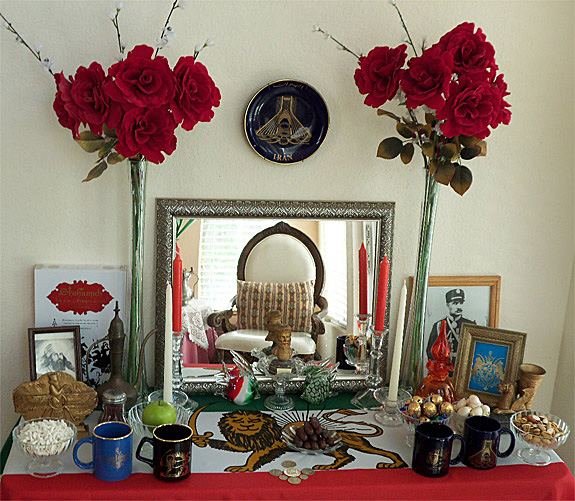 Nowruz Persian New Year Haft Sin Table Index