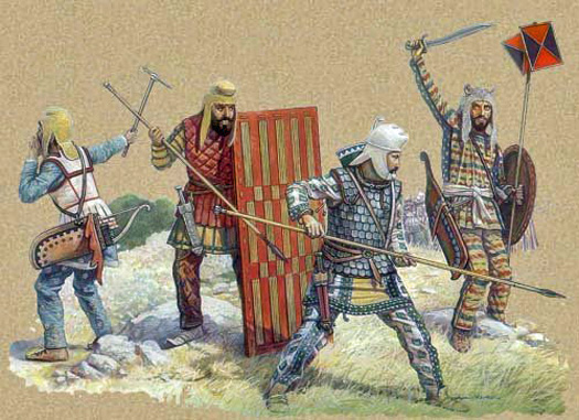 Why leather caps and Wicker Shields? - Page 16 - Historum ... Ancient Persian Army
