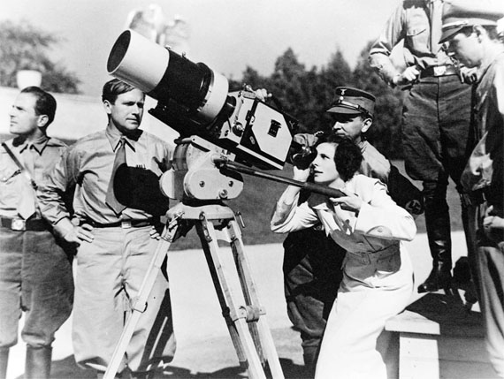Leni riefenstahl during the triumph of the will filming 1934