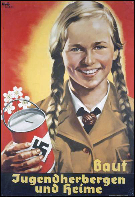 Nazi Propaganda Poster - Support FemiNazi YouthNazi Women Propaganda