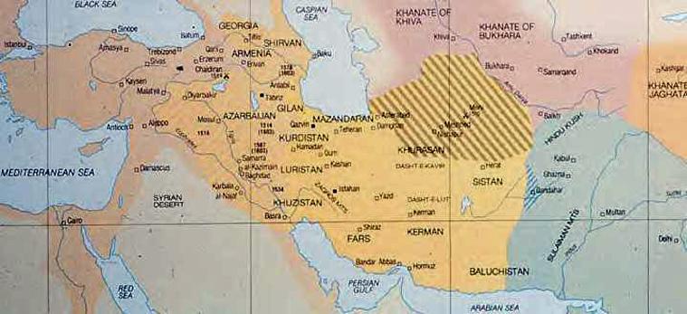 Iran Politics Club Iran Historical Maps 9 Safavid Persian Empire Ottoman Empire Afsharids Zands