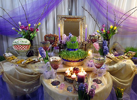 Iran politics club nowruz persian new year haft sin 2 for Table design for new year